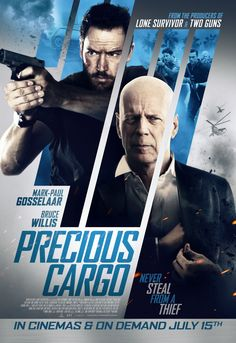 Return to the main poster page for Precious Cargo   After a botched heist, Eddie (Bruce Willis), a murderous crime boss, hunts down the seductive thief Karen (Claire Forlani) who failed him. In order to win back Eddie's trust, Karen recruits her ex-lover and premier thief Jack (Mark-Paul Gosselaar) to steal a cargo of rare precious gems. But when the job goes down, allegiances are betrayed and lines are crossed as Jack, Karen, and Eddie face off in a fateful showdown.