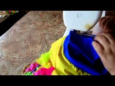 Как пришить резинки к трусикам купальника из бифлекса - YouTube