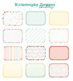 Spring Half Box stickers | K@tastrophy Designs Studios