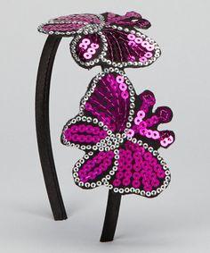 Another great find on #zulily! Hot Pink Butterflies Headband #zulilyfinds