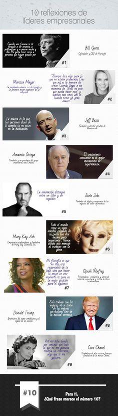 10 reflexiones de líderes empresariales infografia