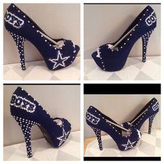 Custom heels Dallas Cowboys heels Cowboys bling by Blingshoeshop