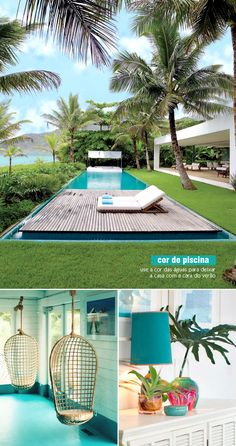 aqua blue | beach house decor #swimmingpool #beach #decor