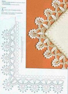 Watch The Video Splendid Crochet a Puff Flower Ideas. Phenomenal Crochet a Puff Flower Ideas. Crochet Boarders, Crochet Lace Edging, Crochet Motifs, Crochet Diagram, Crochet Stitches Patterns, Crochet Chart, Thread Crochet, Crochet Trim, Crochet Designs