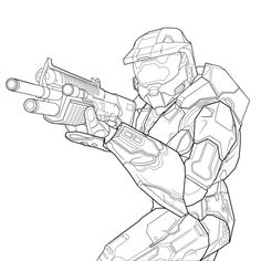 Free Printable Halo Coloring Pages - Enjoy Coloring