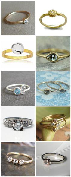 Lovely handmade wedding rings from Etsy.