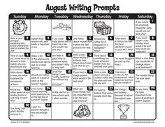 Summer writing FREE printable March Writing Prompts Calendar: Perfect for journal writing or writing center. Thanks Lakeshore Learning! Christmas Writing Prompts, Writing Prompts For Writers, Creative Writing Prompts, Writing Lessons, Kids Writing, Teaching Writing, Writing Activities, Writing Ideas, 5th Grade Writing Prompts