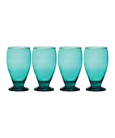 Take a look at this Aqua Uptown Goblet - Set of Four today!