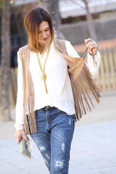 Chaleco de Flecos; Country Chic Style