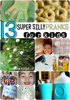 Such fun ideas for tame pranks for kids. Some of them are kind some of them are silly, but they will all have you laughing and playing together.