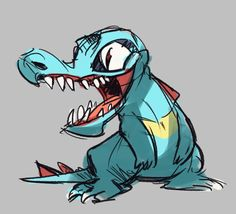 Herny's old Art blog (Archive) — Doodling Totodile in class