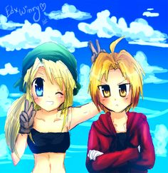 Ed X Winry by *Kash-Phia on deviantART