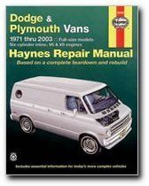Haynes Repair Manuals Dodge & Plymouth Vans, 71-03 (Excludes information specifi (30065)  //Price: $ & FREE Shipping //    #car