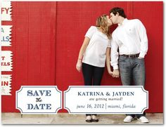 Picture Postcard Save The Dates - Rustic Wedding Chic