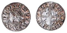 A coin of Cnut (1016-35), the Danish conqueror of England - a rare survival from the very minor mint of Crewkerne in Somerset.