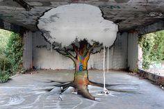 Anamorphic Graffiti by TSF Crew street art graffiti anamorphism