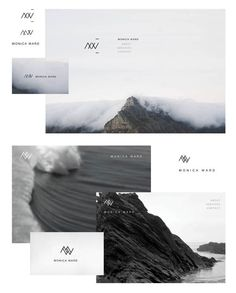Monica Ward Identity Design by Kinal Ladha, via Behance