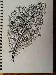 Zentangle feathers
