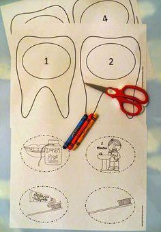 Dental Health Craft — A Tooth Brushing Craftivity by Robin Sellers - Cuidado Bucal Dental Health Month, Oral Health, Dental Hygiene, Dental Care, Dental Teeth, Dental Implant Surgery, Health Unit, Dental Kids, Health Activities