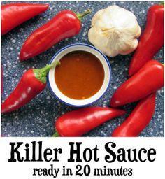 Hot Sauce Recipes, Spicy Recipes, Mexican Food Recipes, Ethnic Recipes, Chutney Recipes, Paprika Sauce, Homemade Seasonings, Homemade Sauce, Chimichurri