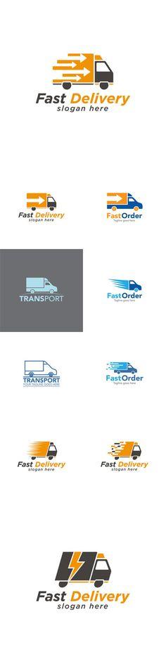 Vectors - Truck Fast Delivery Logo Design