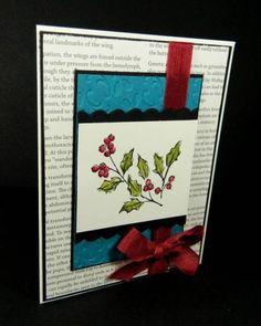 "Watercolored Christmas **** SU ""Watercolor Winter"", 2012 Holiday Mini."