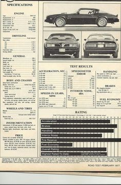 Pontiac Trans Am test specs Old Muscle Cars, American Muscle Cars, Bandit Trans Am, General Motors, Smokey And The Bandit, Pontiac Cars, Convertible, Pontiac Firebird Trans Am, Car Advertising