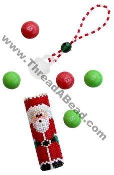Santa Tube Ornament Bead Pattern By ThreadABead