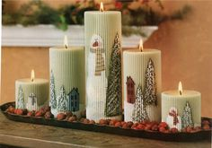 """FREE """"Holiday Candle Centerpiece E-Pattern"""" by Sue Allemand"""