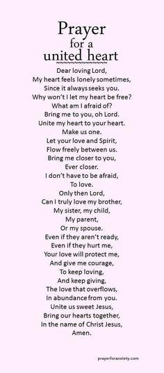 Prayer for a United Heart