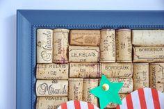 Bobble Blue Wine Cork Board >> http://tinyurl.com/cuteandpaste-bobble  #corkboard #winecorkboard #winecork #pinboard