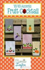 Marcia Layton Tea towel patterns using yo-yos