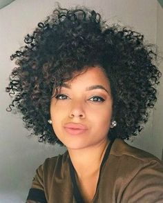 "12"" Kinky Curly Wigs For African American Women The Same As The Hairstyle In The Picture - Human Hair Wigs For Black Women"