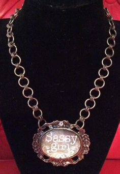 Sassy Girl Necklace by Justfashionating on Etsy, $39.95