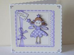 One of my soft and adorable felties designs featuring Fairy Twinkletoeson a lace edged background topped with a ribbon wrap and bow and a fairy greeting.  http://www.craftsuprint.com/card-making/step-by-steps/fairies-card-fronts/fairy-twinkletoes-and-lace-quick-card-n-3d-decoupage.cfm?r=380405    A gorgeous card made by Tracey James
