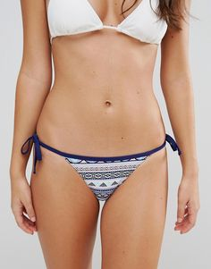 Buy it now. New Look Aztec Print Tie Side Bikini Brief - Blue. Bikini briefs by New Look, Stretch swim fabric, Brazilian cut, Tie side fastenings, Aztec print, Machine wash, 92% Polyamide, 8% Elastane, Our model wears a UK 8/EU 36/US 4. ABOUT NEW LOOK Transforming the coolest looks straight from the catwalk into wardrobe staples, New Look joins the ASOS round up of great British high street brands. Get it or regret it with its weekly drops of essential coats, statement partywear and sleek…