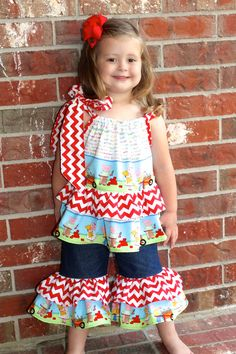 Instant Download Ruffled Pillowcase Top PDF Sewing pattern Girls Sizes 2T-7 Tutorial E Book