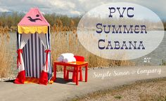 DIY PVC Pipe Summer Cabana Tutorial | Love this idea for the camper..