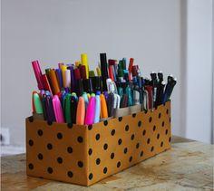 17 Ways to Organize Your Craft Supplies via Brit + Co.