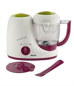 Béaba Babycook. Steam cooks vegetables, fruits, meats and fish in 15 minutes or less and then purees or blends food to the desired consistency - from purees for the first feeding to dishes for tots. This would save a TON of money making your own food! Baby food can get expensive plus you know exactly what is going into your babies food!