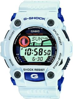 Casio G-7900A-7ER G-Shock Men's Digital Watch with White Resin Strap: G-Shock: Amazon.co.uk: Watches