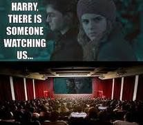 harry! there's someone watching us