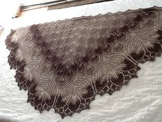 Ravelry: Royal Tulips Shawl pattern by Anne-Lise Maigaard