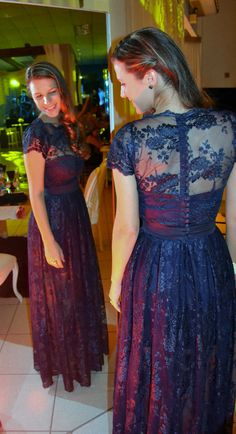 vestido renda azul marinho 7