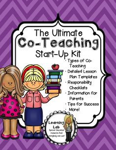 Co-Teaching is a very rewarding opportunity for a special education teacher and a general education teacher to teach along side each other in a heterogeneous setting. This Ultimate Co-Teaching Start-Up kit is perfect for those that are new to co-teaching or are co-teaching with a new partner. Even those co-teaching with the same partner for years will benefit from this product!