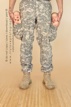 1. Find a military husband. 2. Have his baby. 3. Take this amazing picture! :)