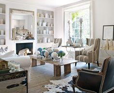 Family-Friendly English Country House - Traditional Home...Does anybody else notice that wing chair with the special tape trimming??