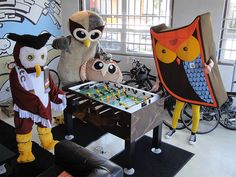 Owly hanging out with his Owl friends