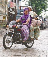 "india girls on bike welcomes-Women empowerment-Save A Girl Child-""Beti Bachao-Beti Padhao"" : biker girls 1"