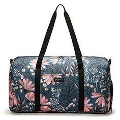 4522c272c2 Jadyn B 22 Womens Weekender Duffel Bag With Shoe Pocket Navy Floral